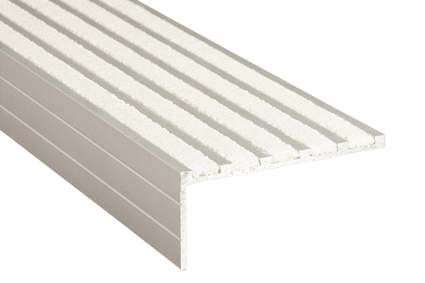Aalto® 5 White Infill 37x75x5mm RC Silver Nosing