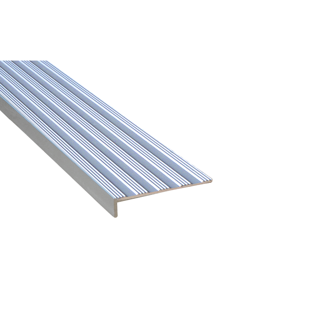 Tadao® Aluminium Striped 10x50mm Silver Nosing