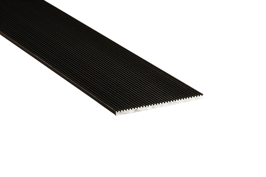 Tadao® Aluminium Corrugated 50x3mm Black Nosing